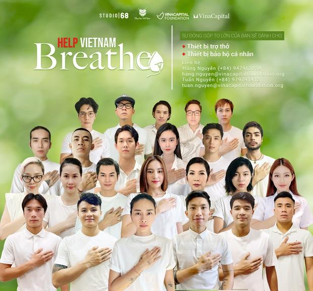 Ngô Thanh Vân - Huy Trần, Lan Ngọc cùng hội nghệ sĩ, cầu thủ khủng kêu gọi ủng hộ quỹ tiếp sức, góp 5 máy thở chống dịch Covid-19 - Ảnh 2.