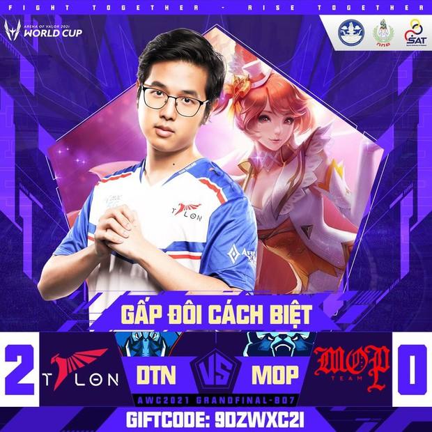 DTAC Talon trở thành tân vương AWC 2021 sau pha backdoor kinh điển, Thái Lan lần đầu tiên vô địch thế giới bộ môn Liên Quân Mobile - Ảnh 1.