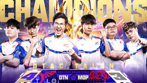 DTAC Talon trở thành tân vương AWC 2021 sau pha backdoor kinh điển, Thái Lan lần đầu tiên vô địch thế giới bộ môn Liên Quân Mobile - Ảnh 5.