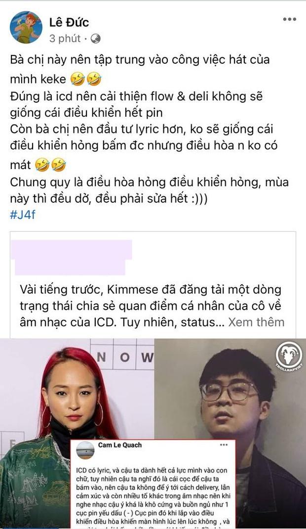 Richchoi công khai đả kích Kimmese: Chị nên đầu tư lyrics, không sẽ giống cái điều khiển hỏng - Ảnh 1.