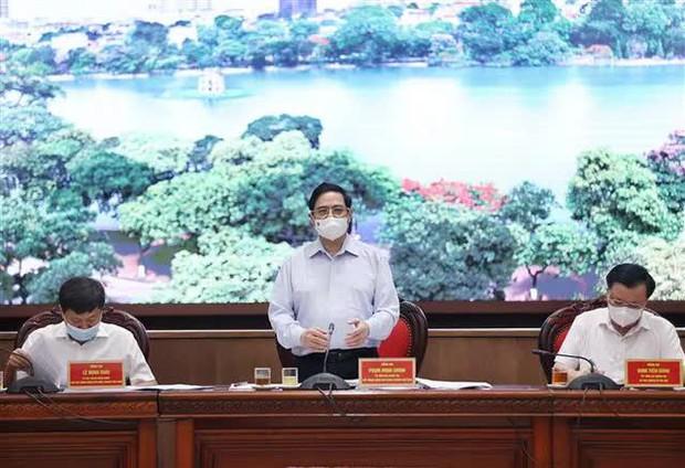 Thủ tướng làm việc với TP. Hà Nội: Ưu tiên số 1 là phòng chống dịch - Ảnh 1.