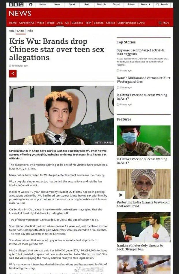 Hé lộ danh sách 20 người tình Ngô Diệc Phàm săn, vụ bê bối tình dục rúng động lên hẳn BBC và vươn tầm thế giới - Ảnh 5.