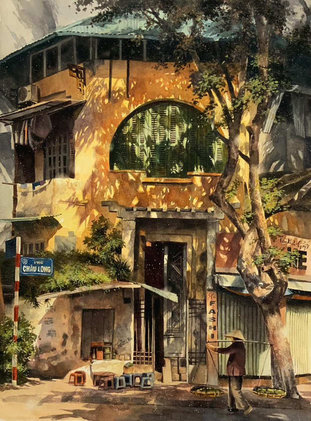 Bộ tranh Hà Nội có sức lan toả nhất lúc này: Một thủ đô đẹp thổn thức qua góc nhìn của người con Sài Gòn - Ảnh 4.