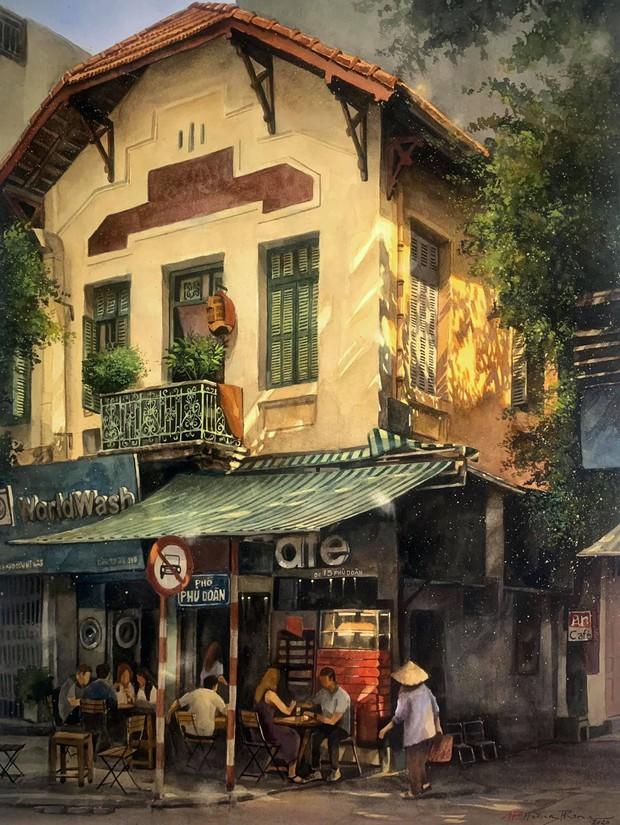Bộ tranh Hà Nội có sức lan toả nhất lúc này: Một thủ đô đẹp thổn thức qua góc nhìn của người con Sài Gòn - Ảnh 11.