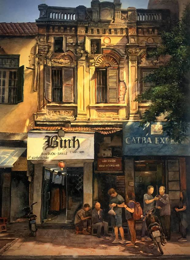 Bộ tranh Hà Nội có sức lan toả nhất lúc này: Một thủ đô đẹp thổn thức qua góc nhìn của người con Sài Gòn - Ảnh 19.
