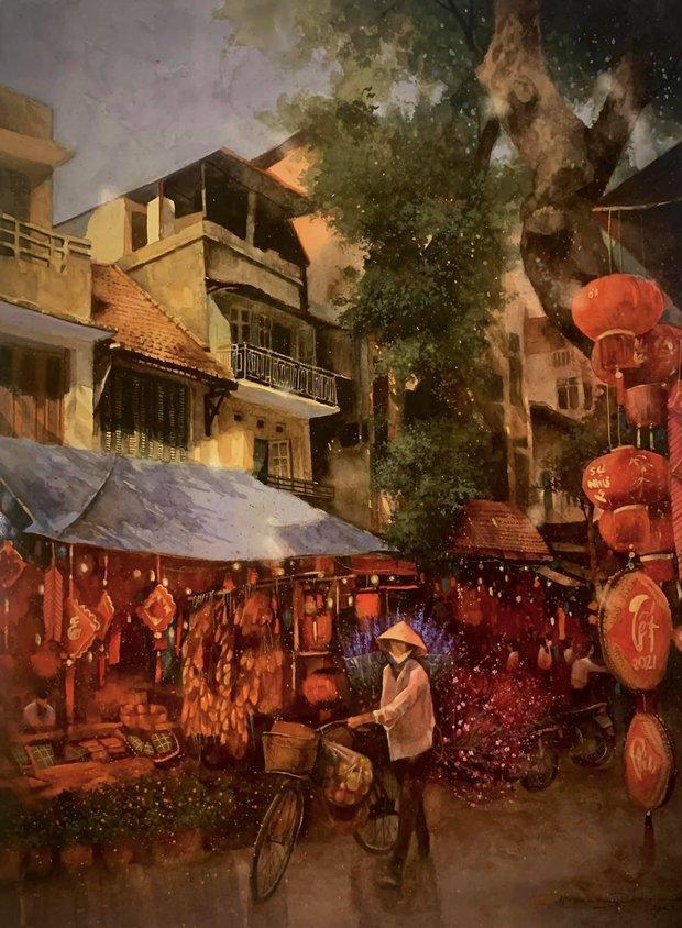 Bộ tranh Hà Nội có sức lan toả nhất lúc này: Một thủ đô đẹp thổn thức qua góc nhìn của người con Sài Gòn - Ảnh 22.