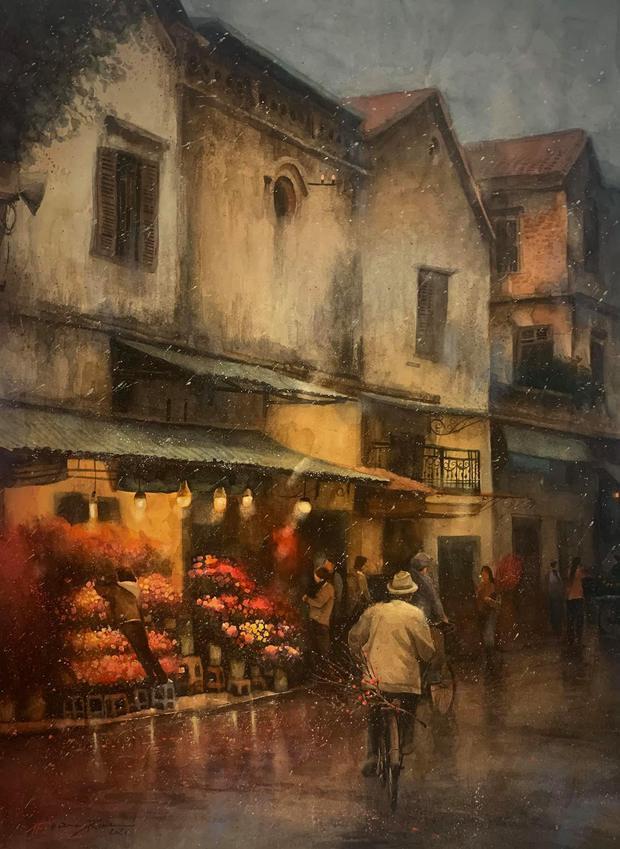 Bộ tranh Hà Nội có sức lan toả nhất lúc này: Một thủ đô đẹp thổn thức qua góc nhìn của người con Sài Gòn - Ảnh 25.