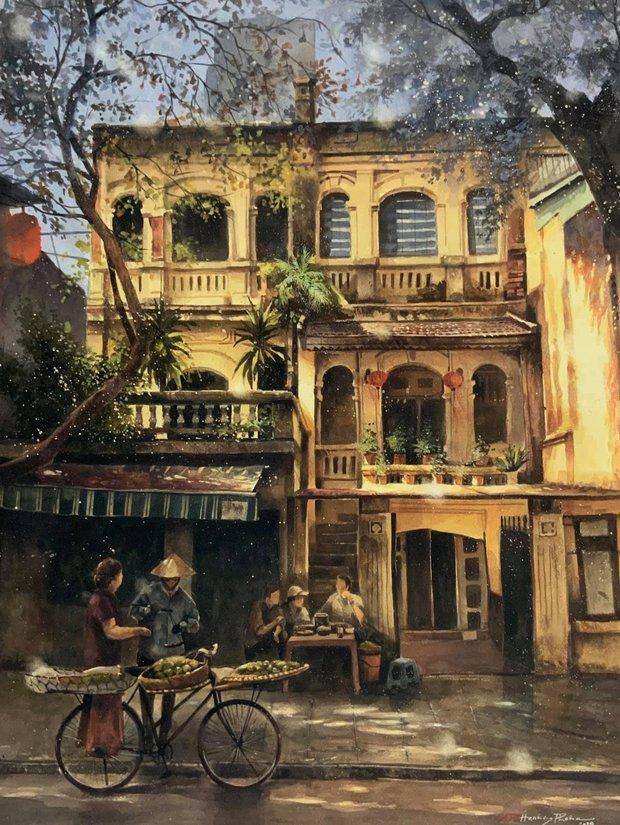 Bộ tranh Hà Nội có sức lan toả nhất lúc này: Một thủ đô đẹp thổn thức qua góc nhìn của người con Sài Gòn - Ảnh 5.