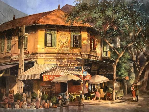 Bộ tranh Hà Nội có sức lan toả nhất lúc này: Một thủ đô đẹp thổn thức qua góc nhìn của người con Sài Gòn - Ảnh 1.