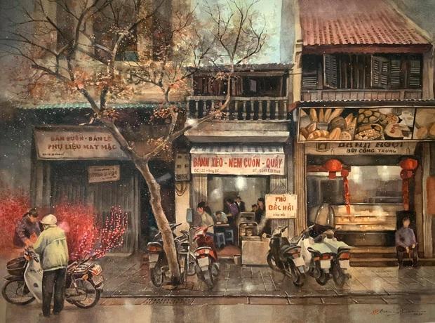 Bộ tranh Hà Nội có sức lan toả nhất lúc này: Một thủ đô đẹp thổn thức qua góc nhìn của người con Sài Gòn - Ảnh 9.