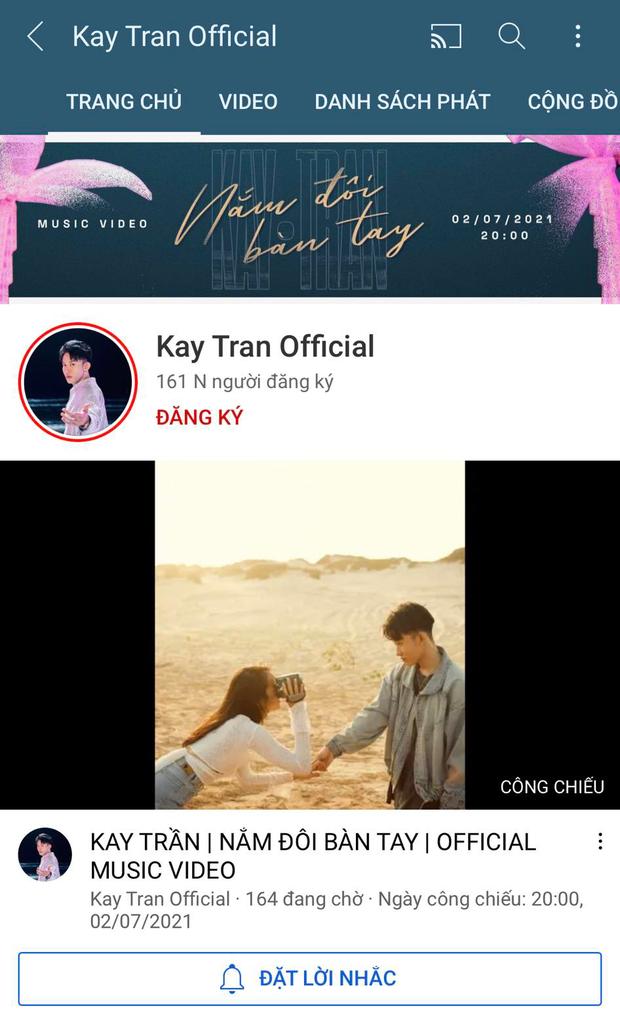 Chưa đến giờ công chiếu MV Nắm Đôi Bàn Tay, nhưng Kay Trần đã thu về một loạt thành tích khủng - Ảnh 2.