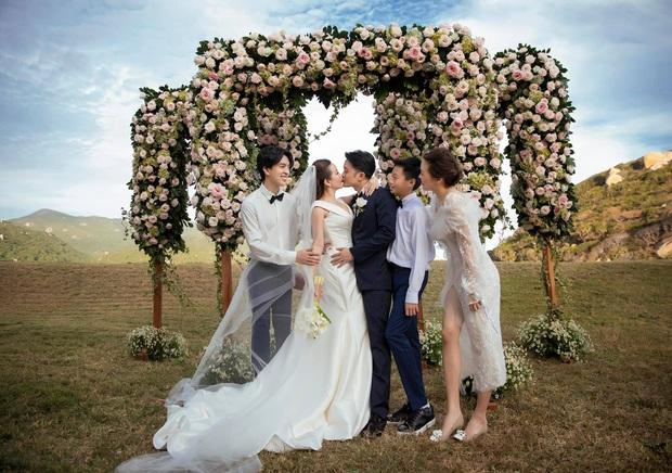 Lễ cưới có 1-0-2 của Hoa hậu Thu Hoài tại Mỹ: Cô dâu chú rể hoá đầu bếp, trang phục cô dâu và mục bóc quà cưới mới lạ lùng - Ảnh 7.