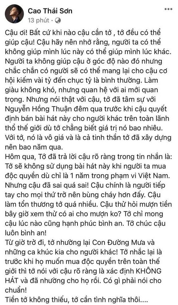 Nhạc sĩ Khắc Việt lên tiếng sau drama nửa đêm: Cao Thái Sơn là người sống không có tâm và lợi dụng mọi người  - Ảnh 6.
