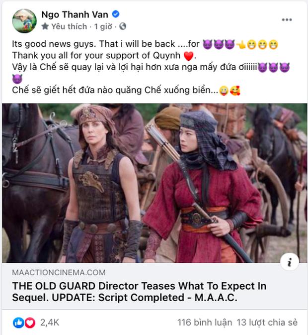 Ngô Thanh Vân xác nhận trở lại bom tấn Hollywood khủng, đóng vai phản diện nên đăng status dằn mặt ngay và luôn - Ảnh 4.