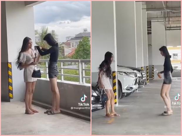 Sự thật đằng sau clip thanh niên bóc phốt 2 hot girl tài chính sống ảo ở bãi xe, chụp vội vài tấm rồi lôi bánh mì ra ăn - Ảnh 1.