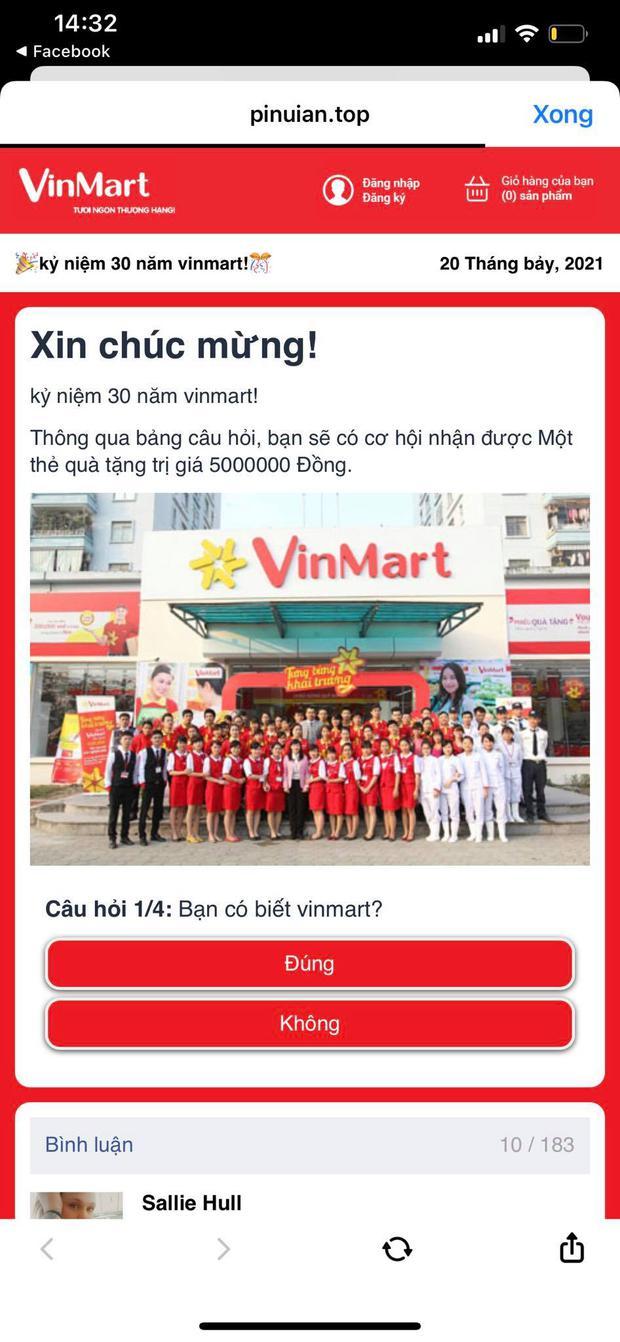 Cảnh báo chiêu trò spam link giả mạo VinMart khiến nhiều người mắc bẫy! - Ảnh 2.