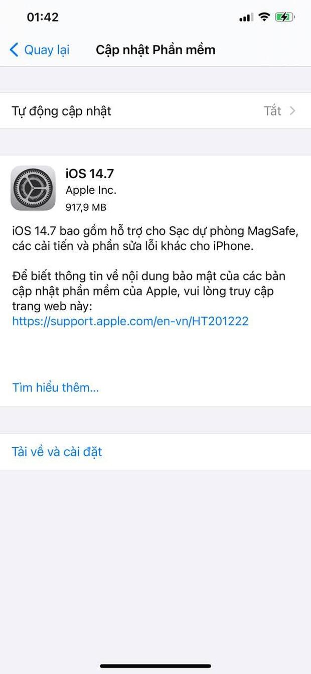 Apple tung bản cập nhật iOS 14.7, người dùng cần cập nhật ngay - Ảnh 1.