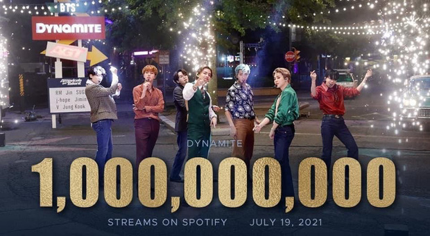 Bỏ xa BLACKPINK, Dynamite của BTS vượt mốc 1 tỷ stream trên Spotify, là nghệ sĩ Hàn đầu tiên làm được điều này! - Ảnh 2.