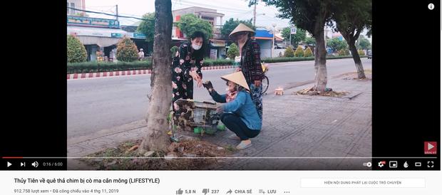 Lùm xùm khắc tên lên mai rùa chưa lắng, Thuỷ Tiên bị netizen khui lại clip treo ngược đàn cò lửa trên ô tô khi mua để phóng sinh - Ảnh 2.
