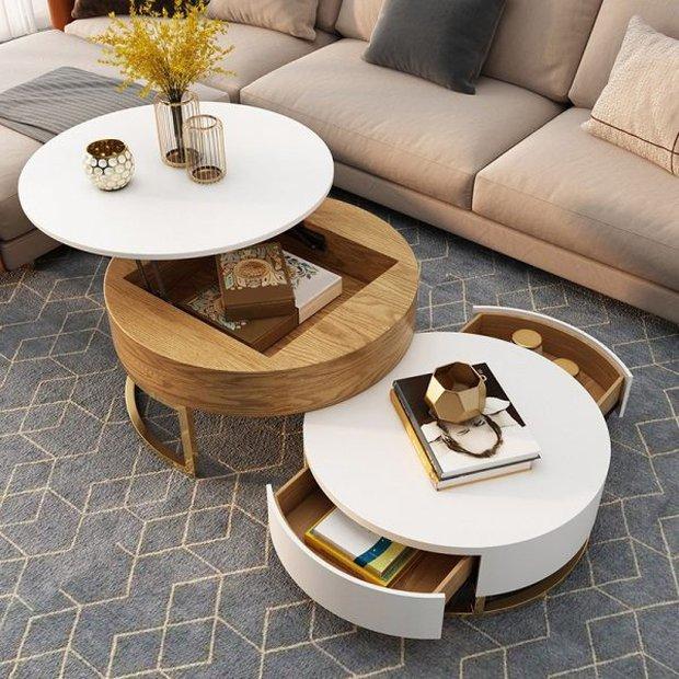 Mấy giờ rồi còn mua bàn trà cỡ lớn, có đến 4 lựa chọn hay và sang hơn nhiều để bạn decor cùng sofa - Ảnh 1.