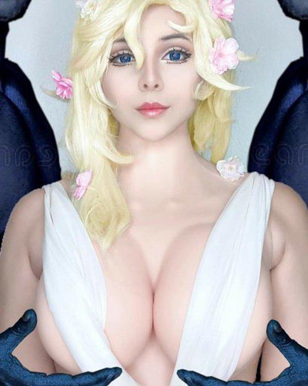 Không thể rời mắt với loạt ảnh cosplay nữ thần Aphrodite vòng một siêu khủng trong Record Of Ragnarok - Ảnh 6.