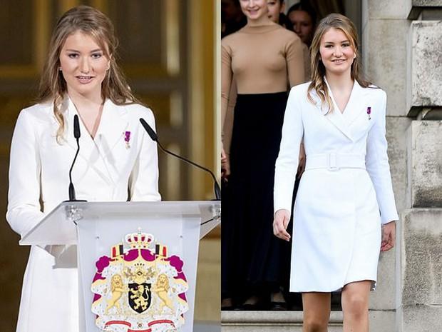 Nữ hoàng tương lai nước Bỉ hiếm hoi xuất hiện với nhan sắc gây chú ý, từng khung hình đều tràn ngập khí chất hoàng tộc ngời ngời - Ảnh 10.