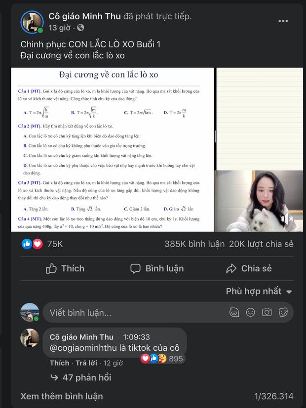 Cô giáo vật lý Minh Thu càn quét mạng xã hội, tương tác tăng chóng mặt, thu về nhiều thành tích khủng! - Ảnh 3.