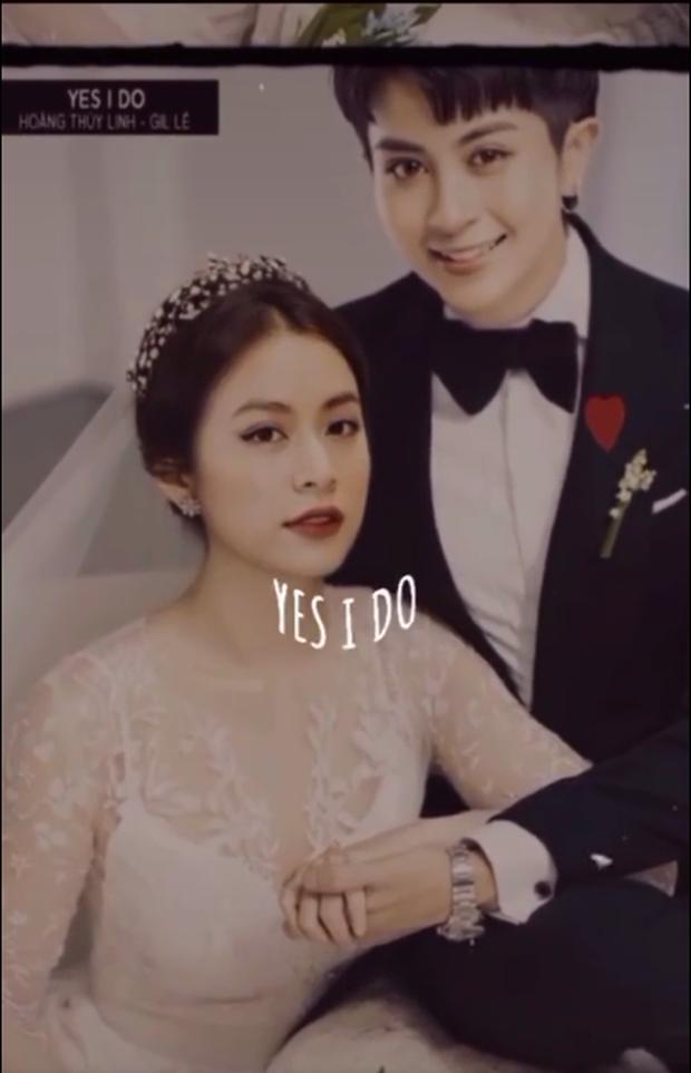 Rầm rộ ảnh cưới của Gil Lê và Hoàng Thuỳ Linh, cô dâu chú rể nắm tay như thật làm hội shipper dậy sóng - Ảnh 3.
