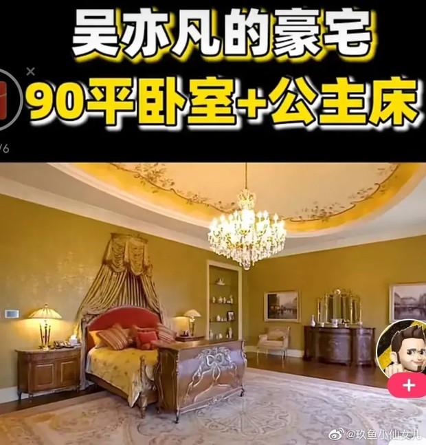Siêu biệt thự 100 tỷ đồng của Ngô Diệc Phàm được tiết lộ giữa bão scandal, giường ngủ công chúa gây khó hiểu nhất - Ảnh 7.