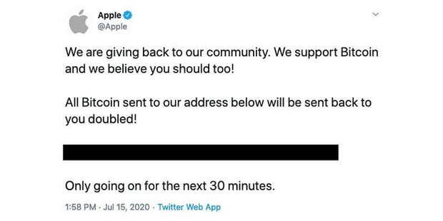 Bắt giữ người đàn ông hack tài khoản Twitter của Apple để lừa đảo Bitcoin - Ảnh 1.