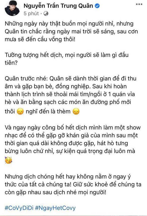 Chờ một ngày hết dịch: Nguyễn Trần Trung Quân, K-ICM chốt đơn liveshow, người chơi hệ tâm linh gọi tên Đỗ Hoàng Dương - Ảnh 2.