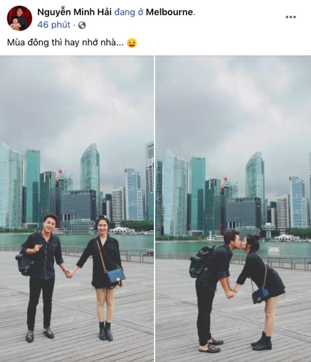 Hé lộ ảnh hẹn hò hiếm hoi lúc mới yêu của Hoà Minzy và chồng thiếu gia: Đôi chim cu ríu rít, khoá môi ngọt phát ghen! - Ảnh 2.