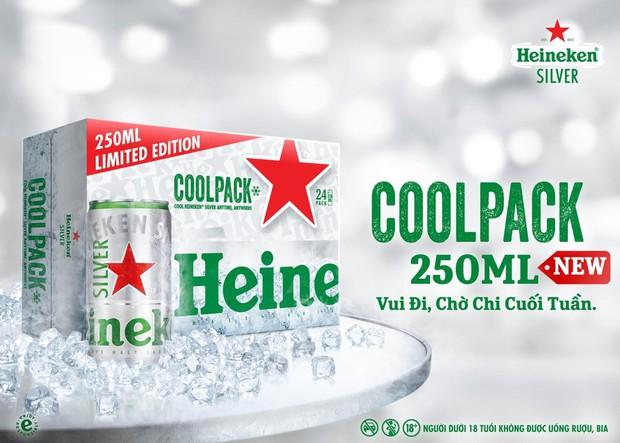 Heineken Silver phiên bản giới hạn Cool Pack 250ml - lạnh thật nhanh cho đêm vui trong tuần - Ảnh 4.