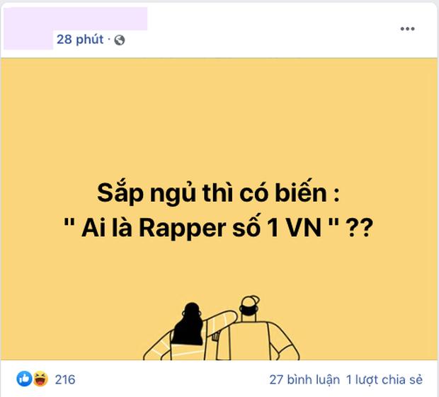 Câu hỏi lớn nhất lúc này: Ai là rapper số 1 Việt Nam? - Ảnh 1.