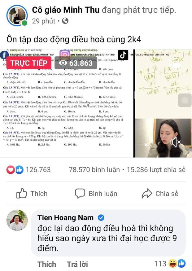 Chủ tịch FPT vào xem cô giáo Minh Thu livestream, để lại nhận xét về hiện tượng này cực thấm thía - Ảnh 1.