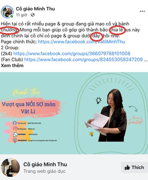 Lên bài kêu gọi dân mạng ủng hộ, cô giáo Minh Thu bị bóc viết sai 3 lỗi chính tả, đọc cực kỳ khó chịu - Ảnh 1.