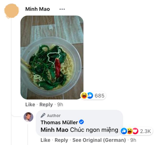 Fan Việt Nam hồn nhiên khoe… tô mì ăn dở dưới bài đăng của siêu sao bóng đá quốc tế, ai ngờ được rep comment thật cơ! - Ảnh 2.
