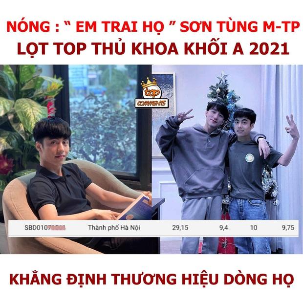 Xôn xao thông tin em trai họ Sơn Tùng M-TP lọt top 5 thí sinh điểm cao nhất cả nước: Chính chủ chính thức lên tiếng - Ảnh 1.
