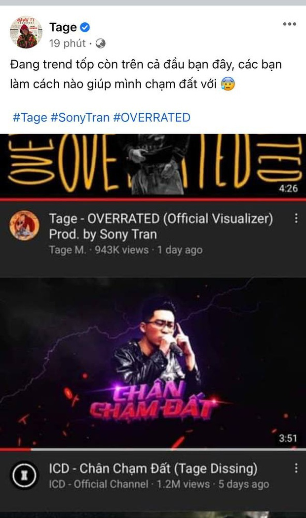 Thắng thế ICD ở top trending, Tage cà khịa đang đứng trên đầu Quán quân King Of Rap, netizen chia 2 phe rõ rệt - Ảnh 5.