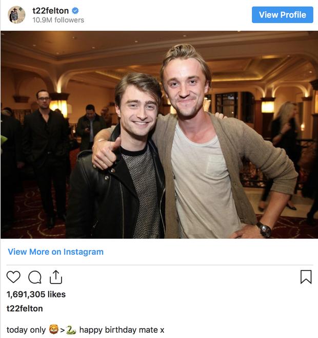 """20 năm rồi mà """"Harry Potter"""" Daniel Radcliffe vẫn bị nam thần Slytherin cà khịa, mối thù 2 nhà lại nhen nhóm! - Ảnh 2."""