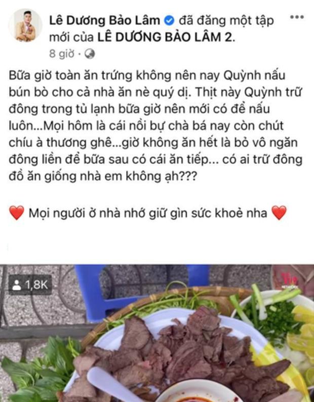 Lê Dương Bảo Lâm bị chỉ trích vì tụ tập đông người ăn bún bò mùa dịch, lời giải thích nghe có hợp lý? - Ảnh 1.