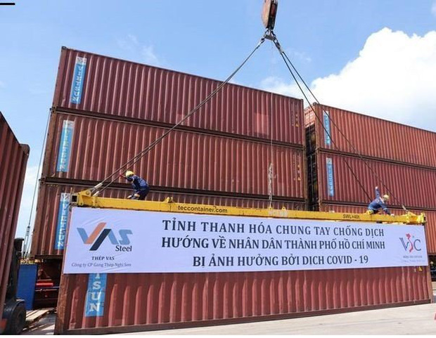 Thanh Hóa: Hơn 1.600 tấn hàng đã lên tàu vào ủng hộ đồng bào phía Nam - Ảnh 1.