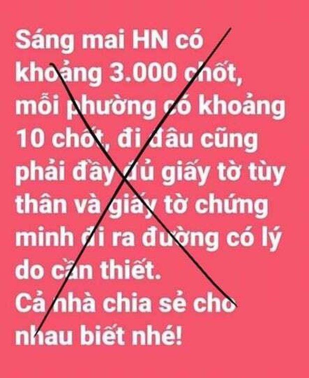 Bác tin đồn sáng mai Hà Nội có 3.000 chốt, mỗi phường có 10 chốt - Ảnh 1.