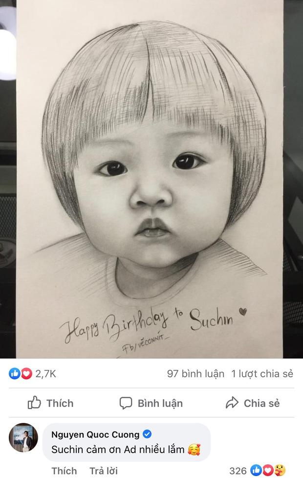 Bức tranh fan vẽ tặng con gái Cường Đô La bỗng gây sốt cõi mạng, nam đại gia phải đích thân mò hẳn Facebook cảm ơn - Ảnh 3.