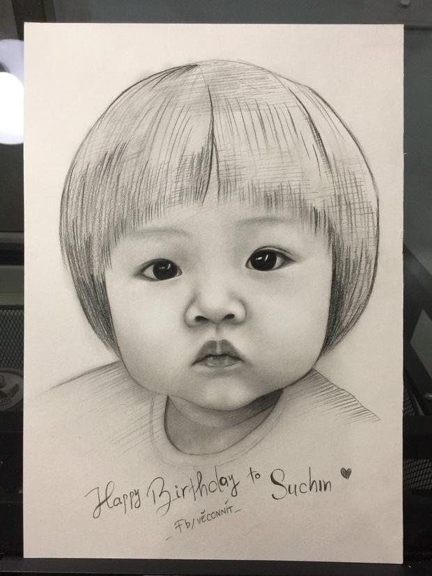 Bức tranh fan vẽ tặng con gái Cường Đô La bỗng gây sốt cõi mạng, nam đại gia phải đích thân mò hẳn Facebook cảm ơn - Ảnh 2.