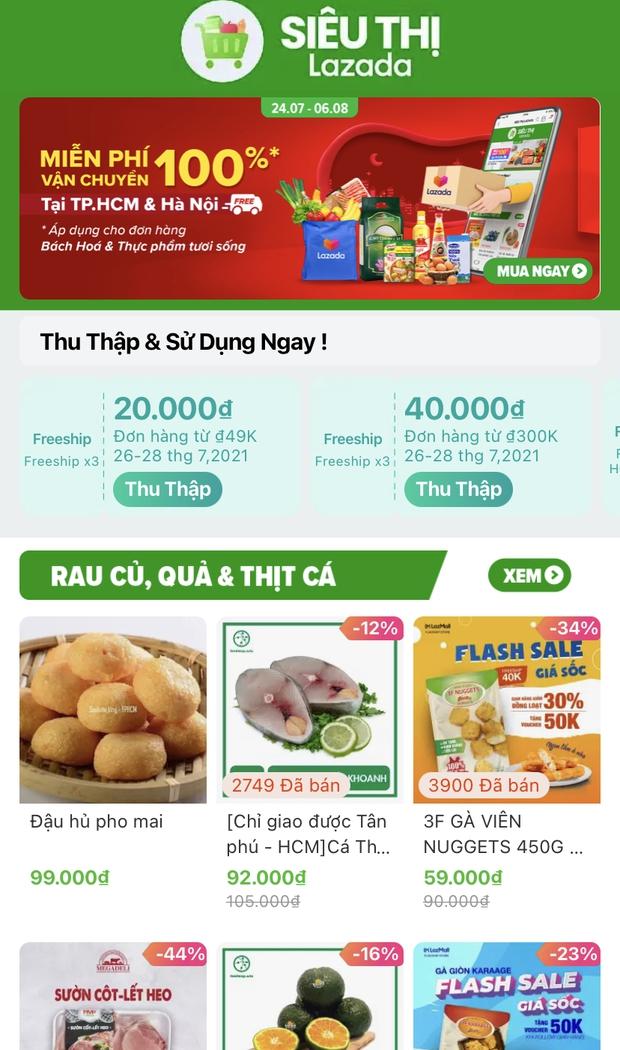 Shopee, Lazada, Tiki và Sendo đã có dịch vụ đi chợ online: Thịt cá, rau củ quả không thiếu gì, ship nhanh lại có mã giảm giá - Ảnh 13.