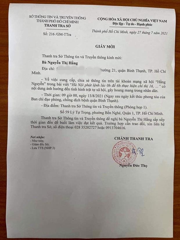 Sở Thông tin và Truyền thông TP.HCM mời mẹ ruột Hiền Sến đến làm việc về bài viết gây bức xúc dư luận - Ảnh 2.