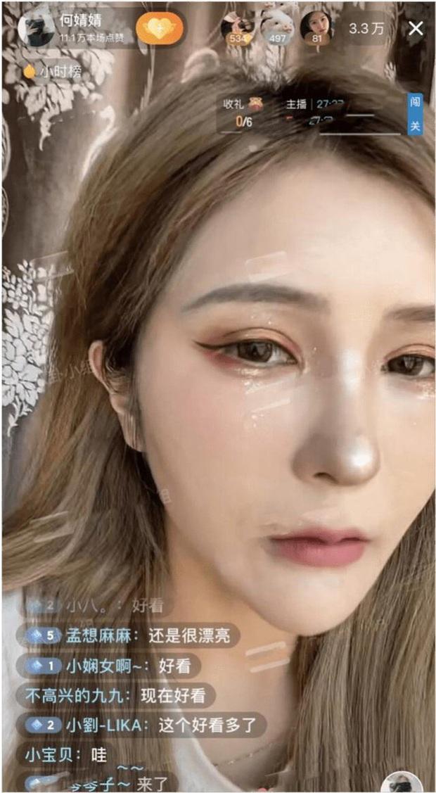 Tắt nhầm app rồi để lộ mặt thật khi đang lên sóng, nữ streamer xinh đẹp bỗng hóa bà thím già nua khiến người xem hoảng loạn - Ảnh 4.