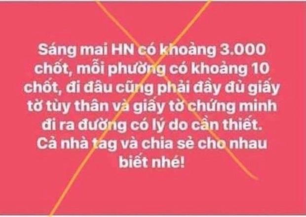Hà Nội xử phạt 12,5 triệu đồng người phụ nữ tung tin Hà Nội có 3.000 chốt kiểm soát, mỗi phường có 10 chốt - Ảnh 1.