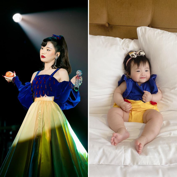 Gương kia ngự trên tường, Đông Nhi thắc mắc: Han Sara và con gái Winnie ai mới là Bạch Tuyết thật đây? - Ảnh 2.